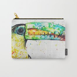 Toucan Watercolour Painting Carry-All Pouch