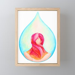 Tear Drop-Vivid Framed Mini Art Print
