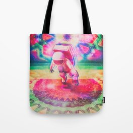 Psychedelic Astronaut Tote Bag
