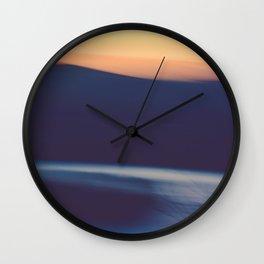 Mountain Sunrise Over Lake - Long Exposure Abstract Wall Clock