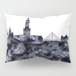 Warsaw Skyline Poland Pillow Sham