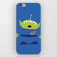 toy story iPhone & iPod Skins featuring Toy Story Alien by TracingHorses
