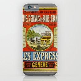 geneve a st gervais les bains vintage Poster iPhone Case