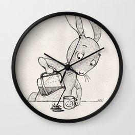 Crooked Coffee Wall Clock