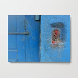 Blue door, Nepal Metal Print