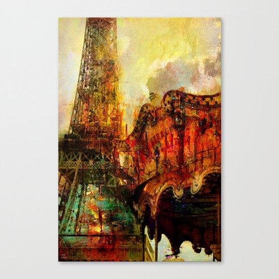 Le carrousel  Canvas Print