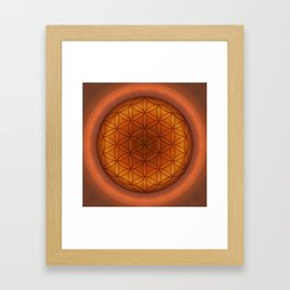 Mandala Flower of Life 1 Framed Art Print