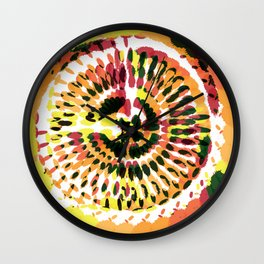 Warm Spiraled Exclusion Wall Clock