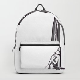 Moench Statue grau Backpack
