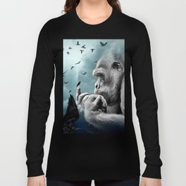 Gorilla discovers crows by GEN Z Long Sleeve T-shirt