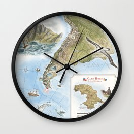 Cape Horn - Exploration AD 1616 Wall Clock