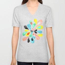 Watercolor Splash  Unisex V-Neck