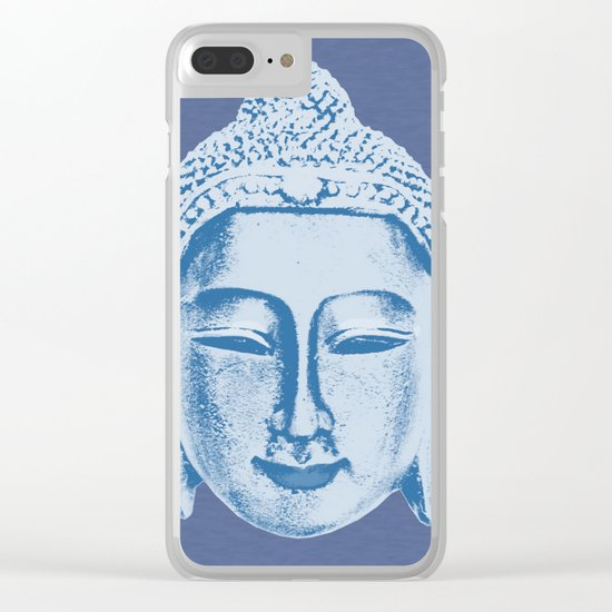 Blue Buddha Clear iPhone Case