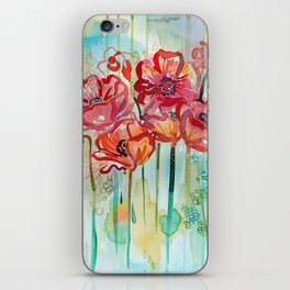 River Poppies iPhone Skin