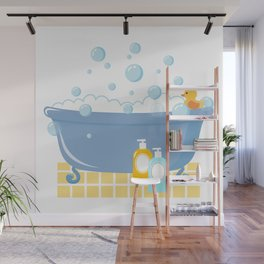 Bubble Bath Tub Wall Mural
