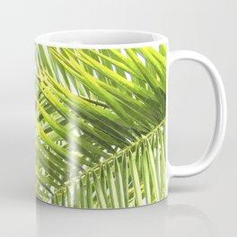 Palm leaves tropical illustration Coffee Mug