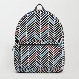 Herringbone Blue and Black #3 Backpack