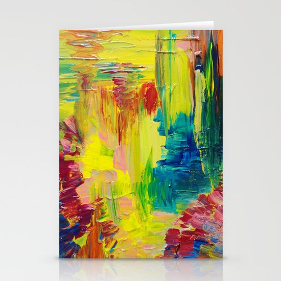 GOING THROUGH THE MOTIONS -  Stunning Saturated Bold Colors Modern Nature Abstract Stationery Cards