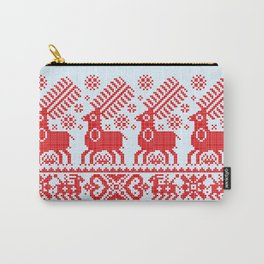 Folk Deers Carry-All Pouch
