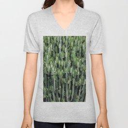 Candelabra Cactus Tree Unisex V-Neck