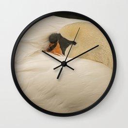 Sleeping Swan Wall Clock