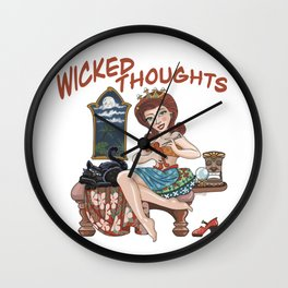 Wicked Thoughts Wall Clock