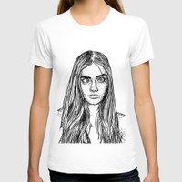 cara delevingne T-shirts featuring Cara Delevingne by Sharin Yofitasari