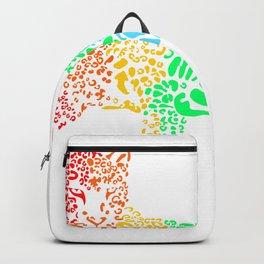 Rainbow Leopard Backpack