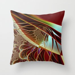 Distant Angle To Trap Fractal Art Throw Pillow
