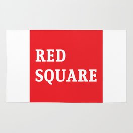 Red Square Rug