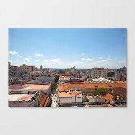 Havana roof tops Canvas Print