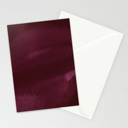 Abstract modern dark burgundy watercolor Stationery Cards