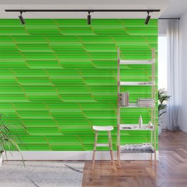Geo Stripes - Green Wall Mural