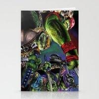 teenage mutant ninja turtles Stationery Cards featuring Teenage Mutant Ninja Turtles by artbywilliam