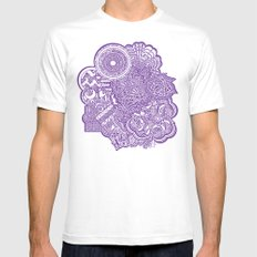 purples Mens Fitted Tee White MEDIUM