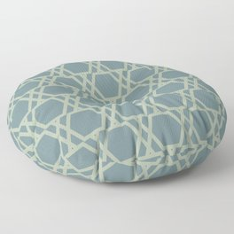 Soft Aqua Blue Green Tessellation Line Pattern 20 2021 Color of the Year Aegean Teal Salisbury Green Floor Pillow
