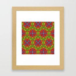 FLOR XL green Framed Art Print