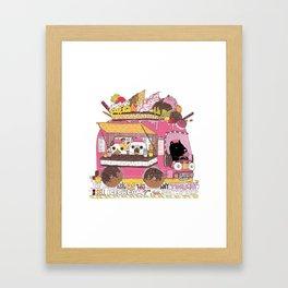 IceCream Truck Framed Art Print
