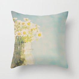 a little jar of sunshine ... Throw Pillow