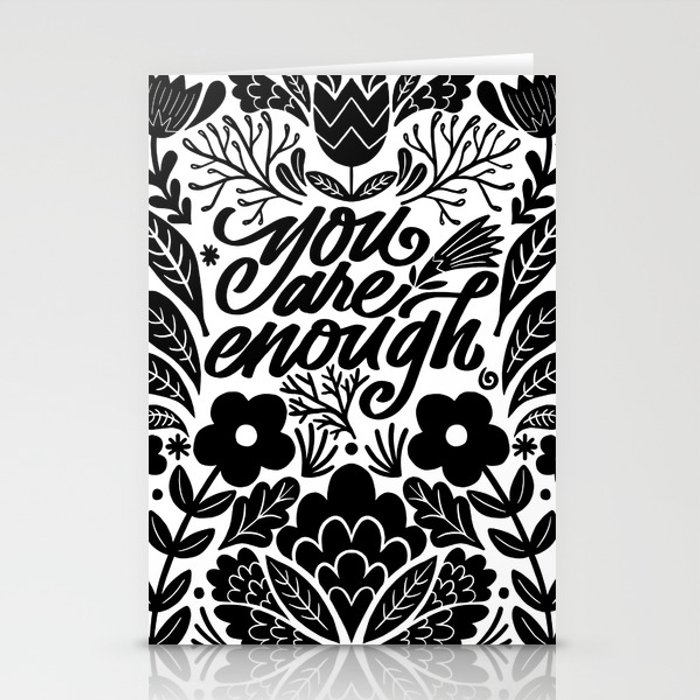 you are enough Stationery Cards