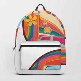 Peace Love Van Flower Theme Backpack