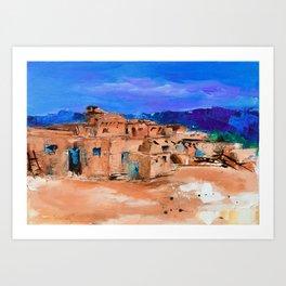 Taos Pueblo Village Art Print