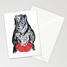 Boxing Bear Stationery Cards