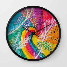 Leaves on the World Tree: Catalan Pine Wall Clock