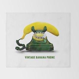 ORGANIC INVENTIONS SERIES: Vintage Banana Phone Throw Blanket