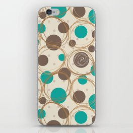 Brown and turquoise iPhone Skin