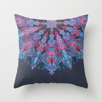 stickers Throw Pillows featuring Escapism  by micklyn