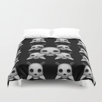 skeletor Duvet Covers featuring Skeletor by Mountain View Art