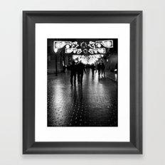 Night Walking Framed Art Print