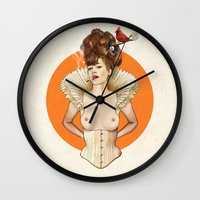 virginia Wall Clocks featuring Miss Virginia by keith p. rein